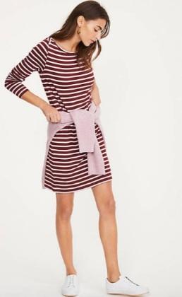 Lou___Grey_Striped_Signaturesoft_Boatneck_Dress___LOFT