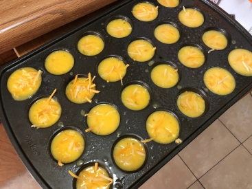 Add Cheddar Cheese to the Eggs