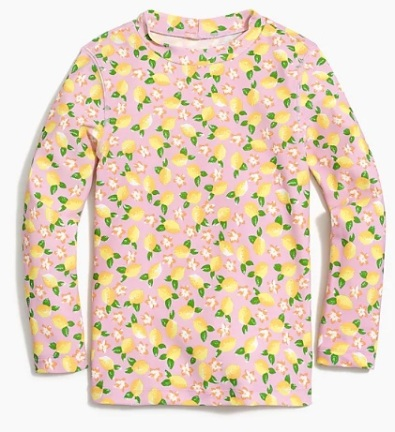 J_Crew_Factory__Girls__rash_guard_in_lemon_print_with_UPF_50_