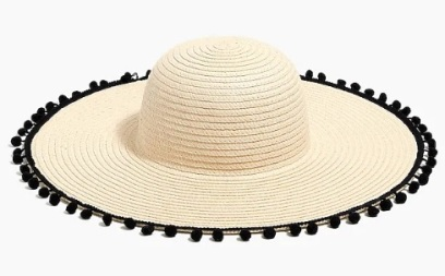 J_Crew_Factory__Straw_hat_with_pom-poms