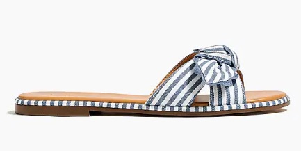 J_Crew_Factory__Striped_bow_slide_sandals